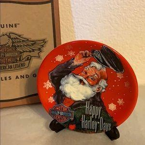 VNTG Harley Davidson Mini Plate Christmas Ornament